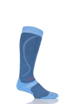 Mens 1 Pair Bridgedale All Mountain Skiing and Snowboarding Socks 25% OFF