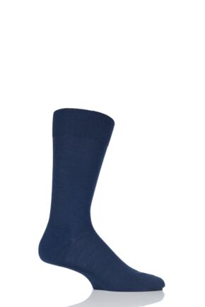 Mens 1 Pair Pantherella Camden Merino Wool Plain Socks