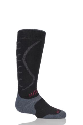 Kids 1 Pair Bridgedale All Mountain Winter Activity Socks for Maximum Warmth Black & Gunmetal