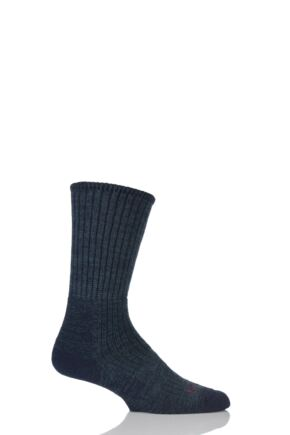 Mens 1 Pair Bridgedale Comfort Trekker Socks For All Day Trekking and Hiking Navy M