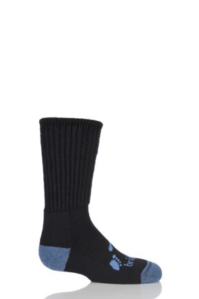 Kids 1 Pair Bridgedale Junior Trekker Socks All Day Comfort Black L