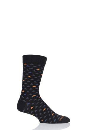 Mens 1 Pair Healthy Seas Recycled Fishing Net Black Socks