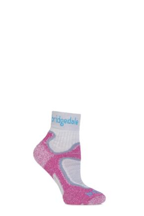 Ladies 1 Pair Bridgedale Speed Trail Merino Wool Running Socks Dusky Pink 7-8.5