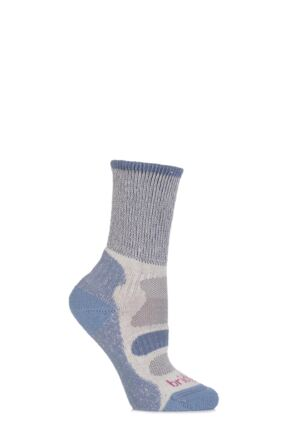 Ladies 1 Pair Bridgedale Active Light Hiker Cotton and Coolmax Socks For Summer Hiking