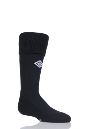 Boys and Girls 1 Pair Umbro League Football Socks Black / White 12-2
