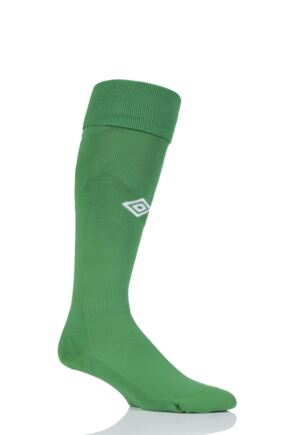 Mens 1 Pair Umbro League Football Socks Emerald / White 7-12 Mens