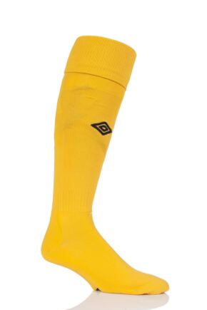 Mens 1 Pair Umbro League Football Socks Yellow / Black 7-12 Mens