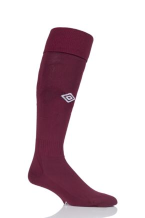 Mens 1 Pair Umbro League Football Socks New Claret / White 7-12 Mens