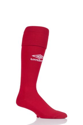 Mens 1 Pair Umbro League Football Socks Vermillion / White 7-12 Mens