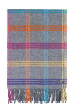 Fraas Cashmink Bright Check Scarf