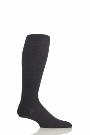 Mens 1 Pair Pantherella Rib Cotton Lisle Knee High Socks