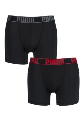 Mens 2 Pack Puma Active Sports Boxer Shorts
