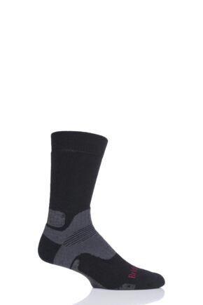 Mens 1 Pair Bridgedale Mid Weight Merino Wool Hiking Socks