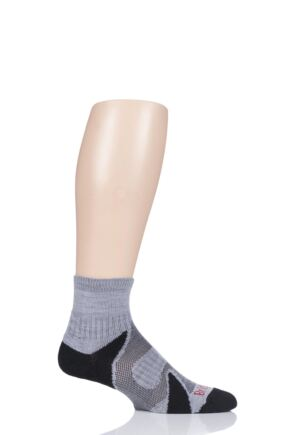 Mens 1 Pair Bridgedale Lightweight Merino Wool Trail Ankle Socks