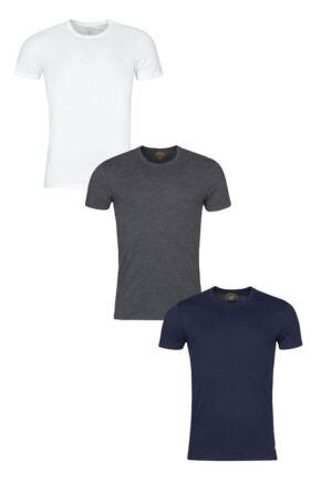 Mens 3 Pack Ralph Lauren Plain Cotton Stretch Crew Neck T-shirts