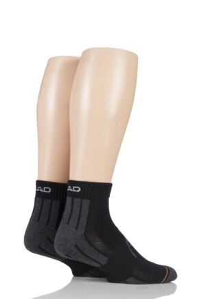 Mens 2 Pair Head Performance Sport Quarter Socks
