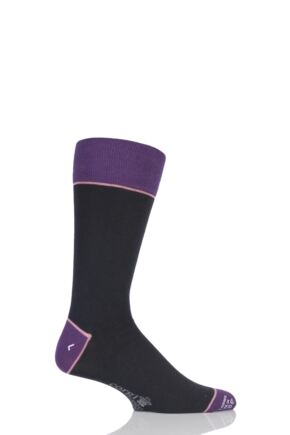 Corgi Lightweight Cashmere Blend Contrast Heel, Toe and Welt Socks