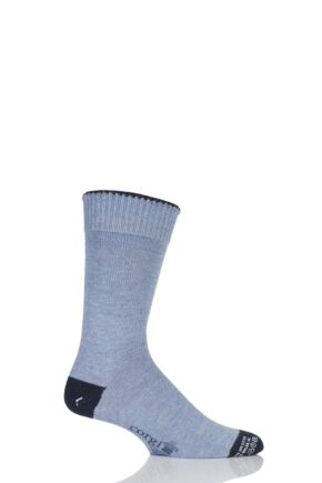 Mens 1 Pair Corgi Heavyweight Wool Contrast Heel, Toe and Tipping Socks