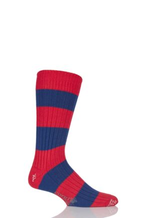 Corgi Heavyweight Wool Rugby Striped Socks
