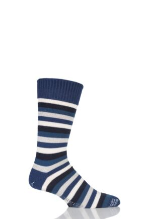 Corgi Heavyweight Wool 5 Colour Striped Socks