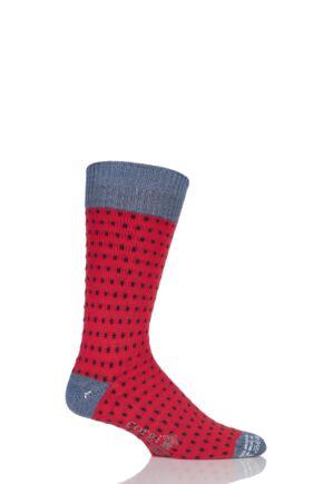 Mens 1 Pair Corgi Heavyweight Wool Pindot Socks