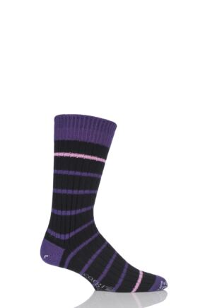Corgi Heavyweight Wool Thin Striped Ribbed Socks