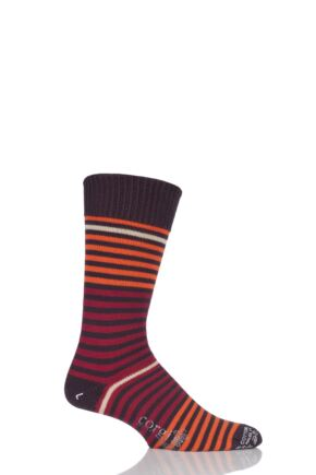 Mens 1 Pair Corgi Heavyweight 100% Cotton Fine Striped Socks