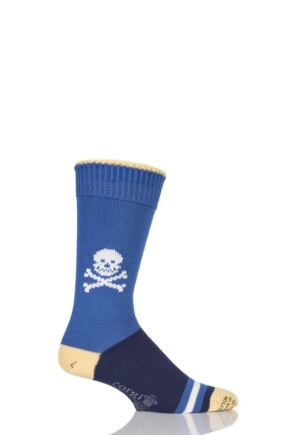 Corgi Heavyweight 100% Cotton Skull Socks with Contrast Heel, Toe and Tipping