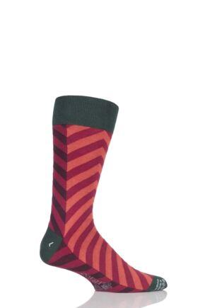 Mens 1 Pair Corgi Lightweight Cotton Geometric Diagonal Socks