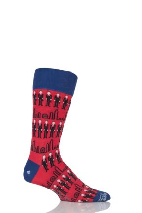 Mens 1 Pair Corgi Lightweight Cotton Business Man Socks Red 11-12