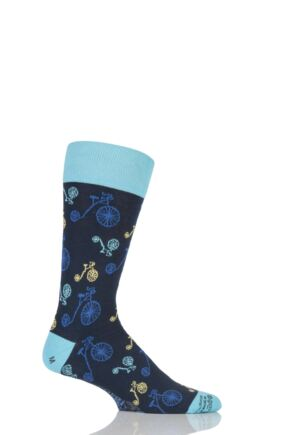 Mens 1 Pair Corgi Lightweight Cotton Penny Farthing Socks