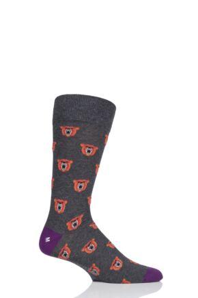 Mens 1 Pair Corgi Angry Bear Lightweight Cotton Socks