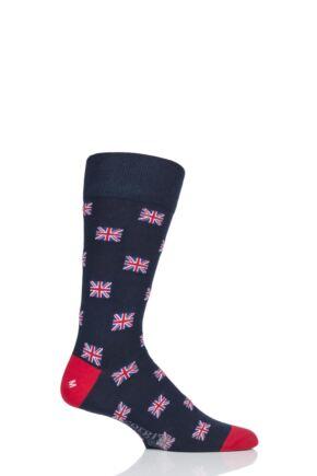 Mens 1 Pair Corgi Best of British Union Jack Lightweight Cotton Socks