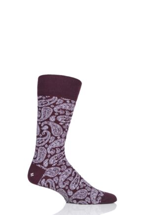 Mens 1 Pair Corgi Classic All Over Paisley Lightweight Cotton Socks