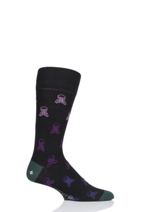Mens 1 Pair Corgi Skull and Crossbones Lightweight Cotton Socks