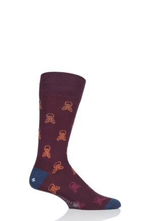 Mens 1 Pair Corgi Skull and Crossbones Lightweight Cotton Socks Port 7.5-9 Mens