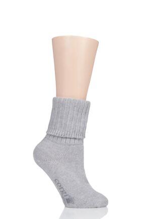 Ladies 1 Pair Corgi Turn Over Top 100% Cashmere Socks