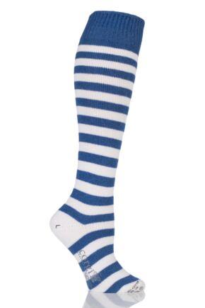 Ladies 1 Pair Corgi Cashmere Cotton Striped Knee High Socks