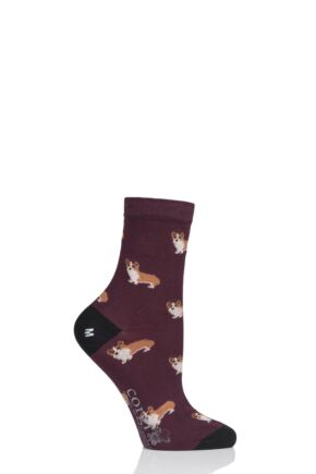Ladies 1 Pair Corgi Corgi Dogs Lightweight Cotton Socks