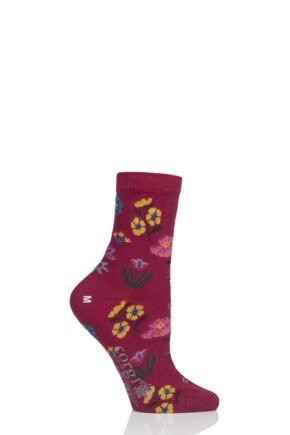 Ladies 1 Pair Corgi Flowers Lightweight Cotton Socks