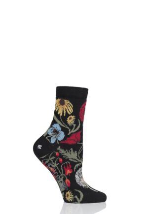 Ladies 1 Pair Corgi Botanical Lightweight Cotton Socks