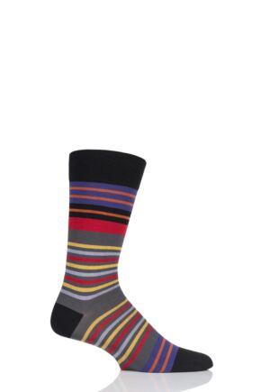 Mens 1 Pair Pantherella Swift Multi Stripe Cotton Socks