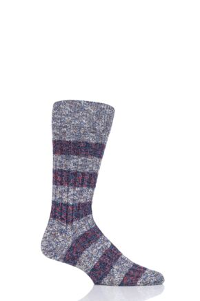 Mens 1 Pair Pantherella Eden Eco Luxe Recycled Plastic and Recycled Cotton Socks