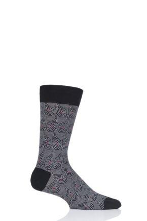 Mens 1 Pair Pantherella Priestley Exploded Paisley Merino Wool Modern Plus Socks