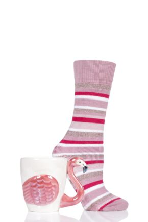 Ladies Totes Fluffy Animal Socks and Mug Gift Set