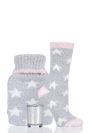 Ladies Totes Supersoft Cosy Hot Water Bottle and Socks Set