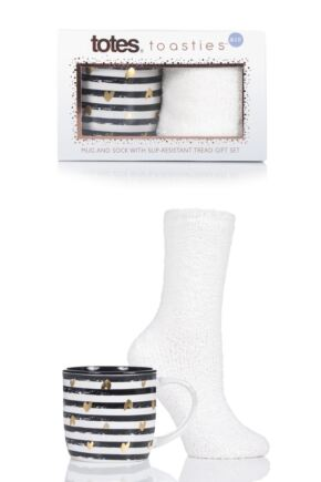Ladies Totes Fluffy Socks and Mug Gift Set