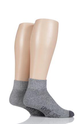 Mens 2 Pair Levis 120SF Plain Cushioned Mid Cut Socks