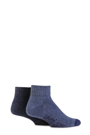 Mens 2 Pair Levis 120SF Plain Cushioned Mid Cut Socks