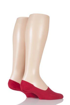 Mens 2 Pair Levis 168SF Plain Cotton No Show Socks Red 9-11
